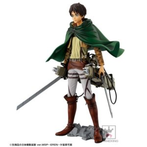 Attack on Titan Figure Eren with Weapon Set Master Stars Piece Banpresto UK attack on titan eren figure UK attack on titan eren figure UK Animetal
