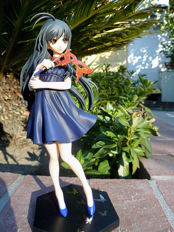 Accel World Kuroyukihime Figure Mask Off ver. UK SEGA Accel World Kuroyukihime figure with a mask UK accel world anime figures UK animetal