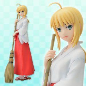 Fate Hollow Ataraxia Saber Miko Clothing Version Figure SEGA UK Fate Hollow ataraxia saber cleaning version figure fate hollow ataraxia anime figures UK animetal