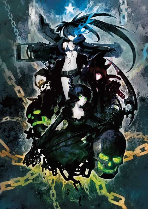 Black Rock Shooter Blu-ray & DVD Set Limited First Edition BRS Project anime figures UK animetal