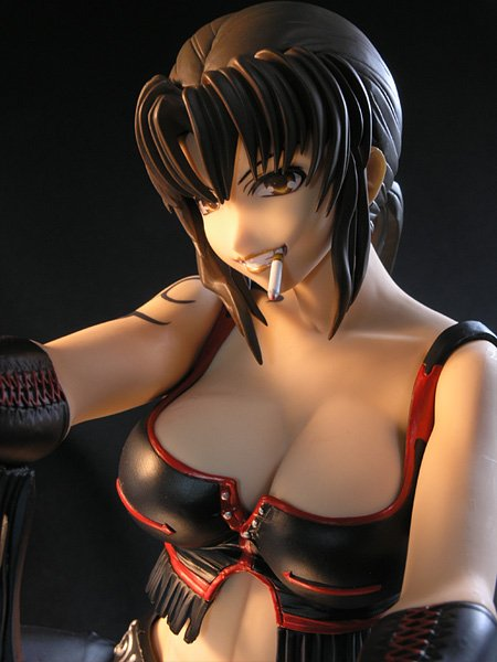 Black Lagoon Revy Figure 1:4 Scale Cowgirl Ver. Black Color Ver. A-Label UK Black Lagoon anime figures UK animetal