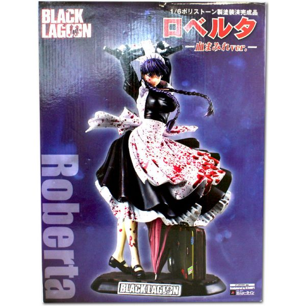 Black Lagoon Roberta Figure Bloody Ver. 1:6 Scale New Line UK Black Lagoon anime figures UK animetal