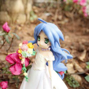 Lucky Star Izumi Konata Figure Wedding Dress SEGA UK Lucky Star Anime figures UK animetal