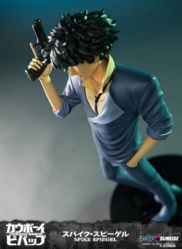 Cowboy Bebop Spike Spiegel Resin Statue 52cm First 4 Figures UK Cowboy bebop resin figure UK Cowboy bebop spike figure UK cowboy bebop anime figures UK animetal