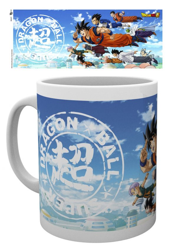 Dragon Ball Super Flying Mug UK Dragon Ball Super Mug UK Dragon Ball merchandise UK Dragon Ball merch UK DBZ Mug UK DBS Mug UK animetal anime mugs UK