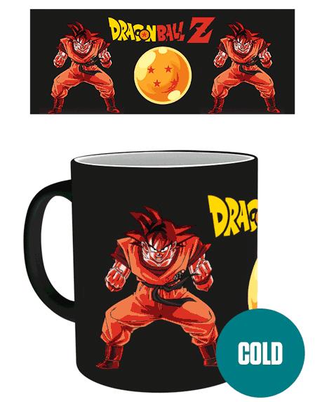 Dragon Ball Z Super Saiyan Heat Change Mug UK Dragin Ball Z merch UK DBZ Super Saiyan mug UK dbz anime mug UK animetal dragon ball merchandise UK dbz mug