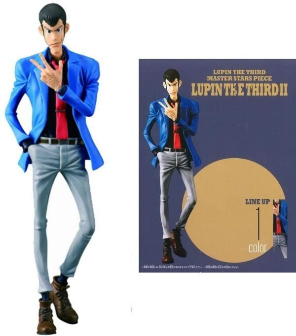 Lupin the Third Figure Master Stars Piece Blue Banpresto UK Lupin Figures UK Lupin Statues UK Banpresto figures uk Lupin anime figures UK animetal