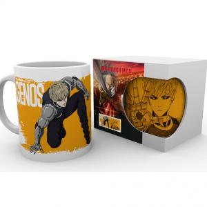 One Punch Man Genos Mug UK One Punch Man Genos merch UK One Punch Man Genos merchandise UK One Punch anime merch UK animetal One Punch Man Genos licensed mug