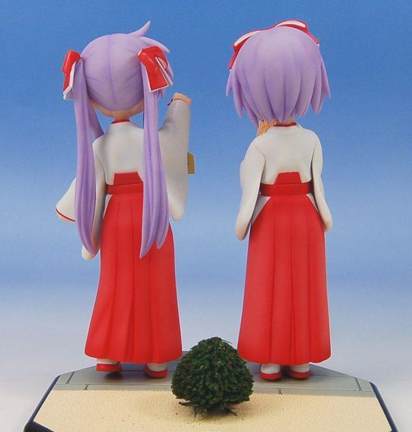 Lucky Star Kagami and Tsukasa Figure Set Limited Ver. Wave Dreamtech UK Lucky Star Kagami and tsukasa New Year Shrine Miyazawa limited figure UK animetal