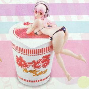 Super Sonico Noodle Stopper Figure Black Ver. FuRyu UK Super sonico soni comi figure super sonico black noodle stopper UK super sonico anime figures UK