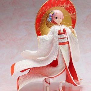 Re:ZERO Ram Statue Shiromuku 1/7 Scale FuRyu Re:ZERO -Starting Life in Another World- PVC Statue 1/7 Ram -Shiromuku- 24 cm Re:zero anime figures UK Animetal