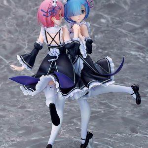 Re:ZERO Rem & Ram: Twins Ver. 1/7 Scale Souyokusha UK RRe:ZERO -Starting Life in Another World- PVC Statue 1/7 Rem & Ram: Twins Ver 24 cm Re:zero figures UK