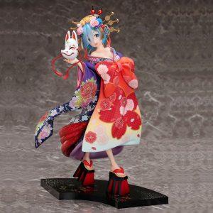 Re:Zero Rem Statue Oiran Dochu Ver. 1/7 Scale FuRyu UK Re:ZERO Anime figures UK Animetal Re:zero Rem kimono statue UK Re:zero anime figures UK