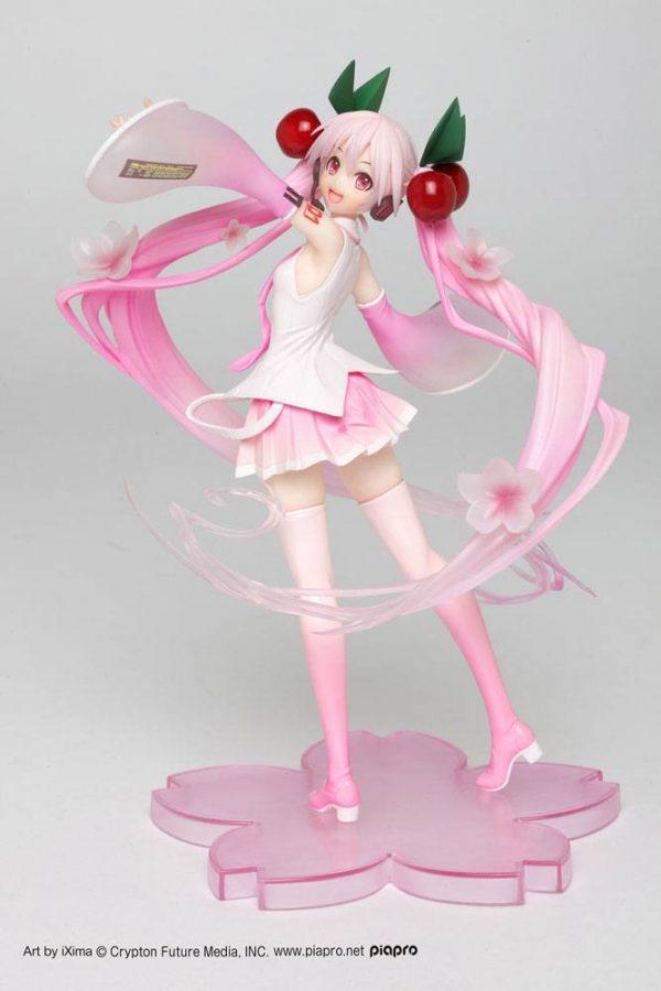 Vocaloid Sakura Miku Figure 2020 Ver. Taito UK Vocaloid PVC Statue Hatsune Miku Sakura Miku 2020 Ver. 18 cm UK vocaloid anime figures UK animetal