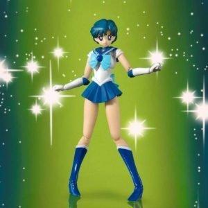 Sailor Moon Sailor Mercury Figure S.H. Figuarts Animation Color Edition Bandai Tamashii Nations UK Sailor Mercury Figure UK Sailor Moon Figures UK animetal