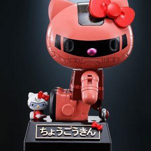 Hello Kitty Chogokin Diecast Action Figure Char's Zaku II Ver. Bandai Tamashii Nations UK Hello Kitty Chogokin figures UK Animetal Hello Kitty Merch UK
