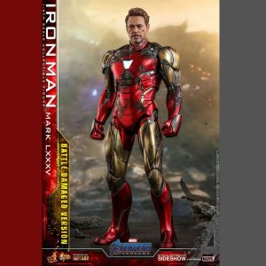 Avengers: Endgame MMS Diecast Iron Man Action Figure Damaged Ver. 1/6 Scale Hot Toys Marvel UK Avengers iron man statue UK Marvel Avengers collectibles