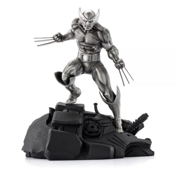 Marvel Pewter Wolverine Victorious Collectible Statue Limited Edition Royal Selangor UK X-Men wolverine pewter limited edition statue UK Animetal