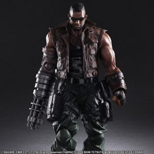 Final Fantasy VII Remake Barret Wallace Play Arts Kai Action Figure No. 2 Square Enix UK Final Fantasy action Figures UK Final Fantasy statues UK Animetal