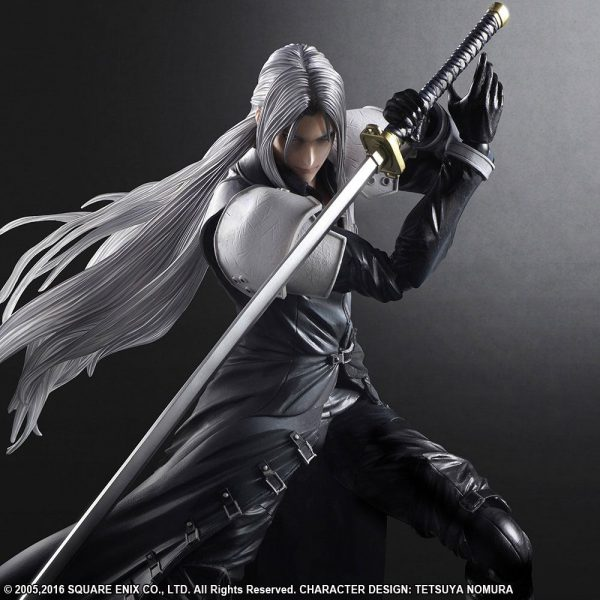 Final Fantasy VII Advent Children Sephiroth Play Arts Kai Action Figure Square Enix UK Final Fantasy action Figures UK Final Fantasy statues UK Animetal