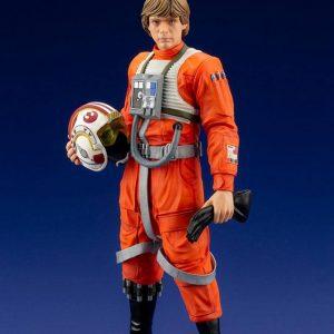 Star Wars Luke Skywalker X-Wing Pilot Suit Ver. ARTFX+ PVC Statue Kotobukiya UK Star Wars scale statues UK ANimetal star wars luke skywalker pilot suit statue UK