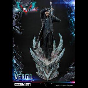 Devil May Cry 5 Vergil Statue Prime 1 Studio 1/4 Scale Limited Edition UK Devil May Cry statues UK Devil May cry limited edition vergil resin statues UK Animetal