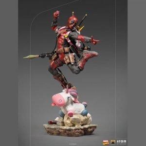 Marvel Comics Deadpool Statue Deluxe BDS Art 1/10 Scale Iron Studios UK Marvel figures UK Deadpool figures UK Marvel comics merchandise UK Animetal