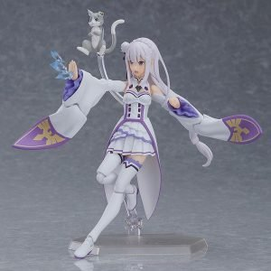 Re:ZERO Starting Life in Another World Emilia Action Figure Figma Max Factory UK Re zero anime figures UK rezero emilia figures UK Animetal