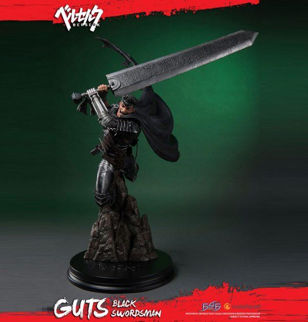 Berserk Guts Black Swordsman Resin Statue 68cm First 4 Figures UK berserk anime figures UK berserk statues UK berserk guts resin statues UK Animetal