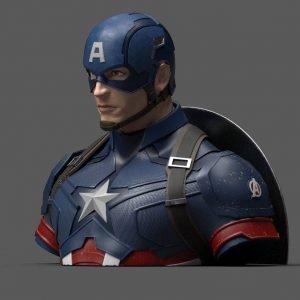 Avengers Endgame Captain America Bust Coin Bank UK avengers money bank UK captain america coin bank UK marvel collectibles UK Animetal