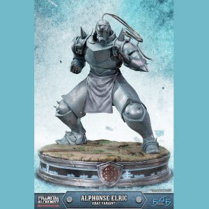 Fullmetal Alchemist Alphonse Elric Resin Statue GRAY VARIANT 50cm First 4 Figures UK Fullmetal alchemist anime figures UK Animetal