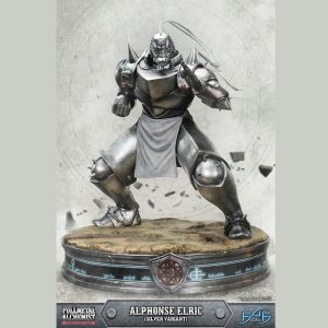 Fullmetal Alchemist Alphonse Elric Resin Statue SILVER VARIANT 50cm First 4 Figures UK Fullmetal alchemist anime figures UK Animetal