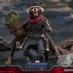 Avengers: Endgame Movie Masterpiece Rocket Action Figure 1/6 Scale Hot Toys Marvel collectibles UK Avengers rocket action figure UK Animetal