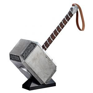 Thor Marvel Legends Articulated Electronic Hammer Mjolnir 1/1 Scale Hasbro UK Marvel memorabilia UK thors hammer UK thors hammer cosplay UK Animetal