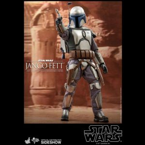 Star Wars Episode II Movie Masterpiece Action Figure 1/6 Jango Fett Hot Toys UK Animetal Star Wars figures UK star wars collectibles UK