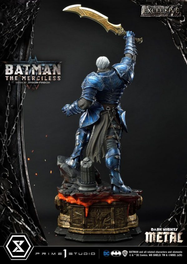 Dark Nights: Metal Statues 1/3 The Merciless & The Merciless Exclusive 112 cm Assortment (3) Batman metal statue UK dc comics batman statues UK ANimetal