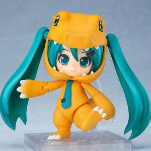 Character Vocal Series 01 Nendoroid Hatsune Miku: Kigurumi Agumon Ver. Good Smile Company UK vocaloid nendoroids UK hatsune miku nendoroids UK animetal
