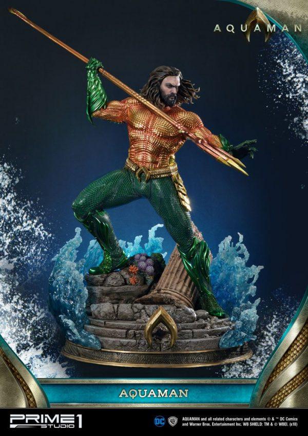 Aquaman Statue Aquaman 88cm Limited Edition Prime 1 Studio UK Aquaman resin statues UK dc comics collectibles UK dc memorabilia UK animetal