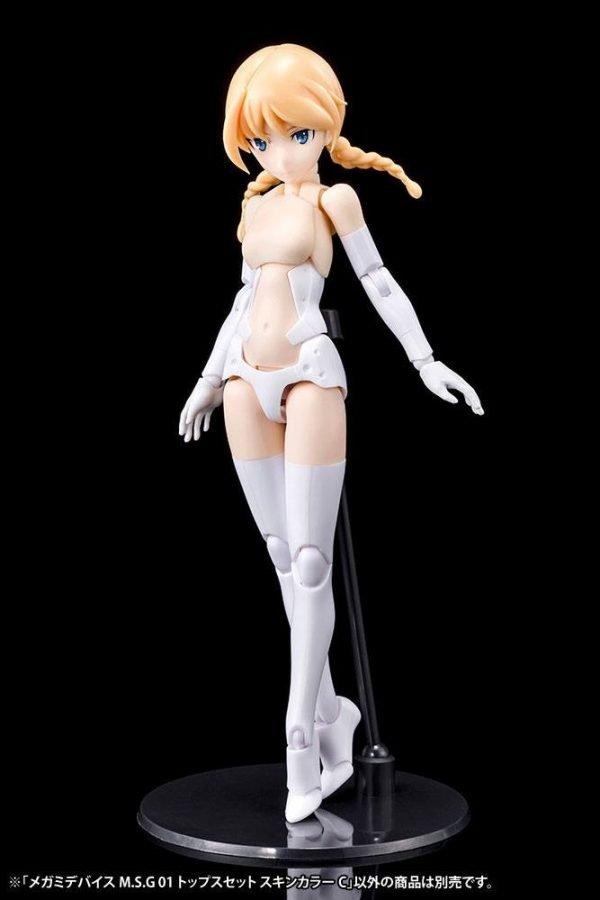 Megami Device M.S.G. Model Kit Accesoory Set 01 Tops Set Skin Color C 2 cm Kotobukiya UK megami device model kit accessories UK Animetal