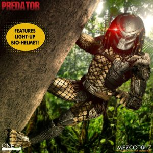 Predator Action Figure 1/12 Predator Deluxe Edition 17 cm Mezco Toys UK predator action figures UK predator scale figures UK Animetal