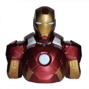 Marvel Comics Coin Bank Iron Man 22 cm Semic UK iron man money bank UK iron man coin bank UK marvel money bank UK marvel collectibles UK Animetal