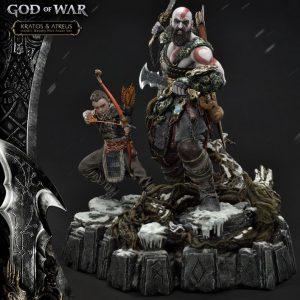 God of War (2018) Statue Kratos & Atreus Deluxe Ver. 72 cm Prime 1 Studio UK God of War memorabilia UK God of war merchandise UK god of war statues UK Animetal