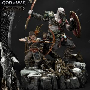 God of War (2018) Statue Kratos & Atreus 72 cm Prime 1 Studio UK God of War memorabilia UK God of war merchandise UK god of war statues UK Animetal