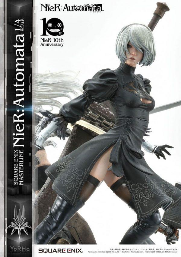 NieR Automata Statue 1/4 2B, 9S & A2 62 cm Square Enix UK NieR Automata statues UK nier automata diorama statue square enix UK Animetal
