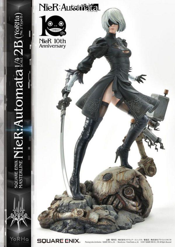 NieR Automata Statue 1/4 2B (YoRHa No. 2 Type B) 62 cm Square Enix UK NieR Automata statues UK nier automata 2b statue square enix UK