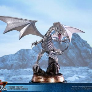 Yu-Gi-Oh! PVC Statue Blue-Eyes White Dragon White Edition 35 cm First 4 Figures UK yugioh figues UK yu gi oh dragon statue first 4 figures UK Animetal