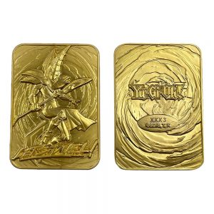 Yu-Gi-Oh! Replica Card Dark Magician (gold plated) FaNaTik UK yugioh dark magician card UK yu gi oh card UK Animetal