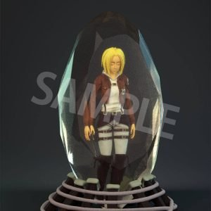 Attack on Titan 3D Crystal Statue Annie Leonhart 10 cm Fots Japan UK attack on titan figures UK attack on titan annie leonhart figure UK Animetal