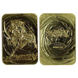 Yu-Gi-Oh! Replica Card Black Luster Soldier (gold plated) FaNaTtik UK yu-gi-oh figures UK yugioh statues UK yu gi oh replica card UK Animetal