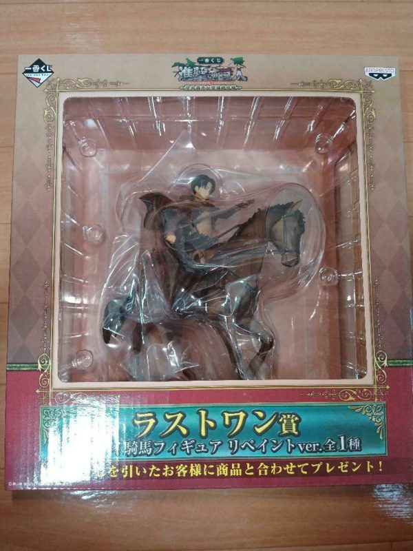 Attack on Titan Equestrian Statue Levi Repaint ver. Ichiban Kuji Special UK Attack On titan Levi ichiban kuji figure UK attack on titan levi figure UK Animetal
